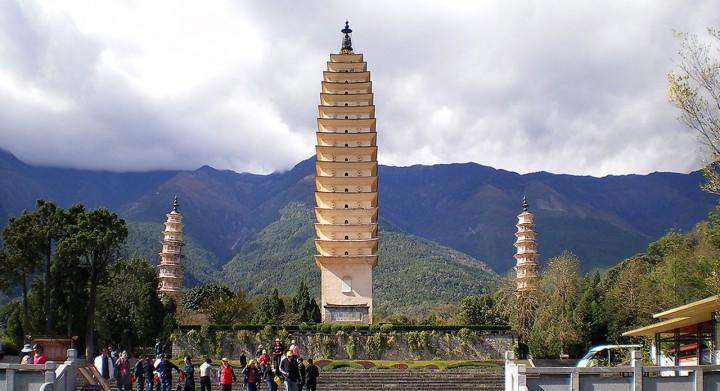 Architekturreise China Dali Pagode. Bild Ventus Reisen