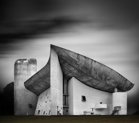 Chapelle Notre-Dame-du-Haut in Ronchamp, France, designed by architect Le Corbusier