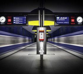 Munich Train Station - Subway station of Westfriedhof, Munich, Germany.