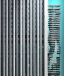 Aon Center designed by Edward Durell Stone & Associates and Aqua Tower designed by Gang Architects Associates, Chicago